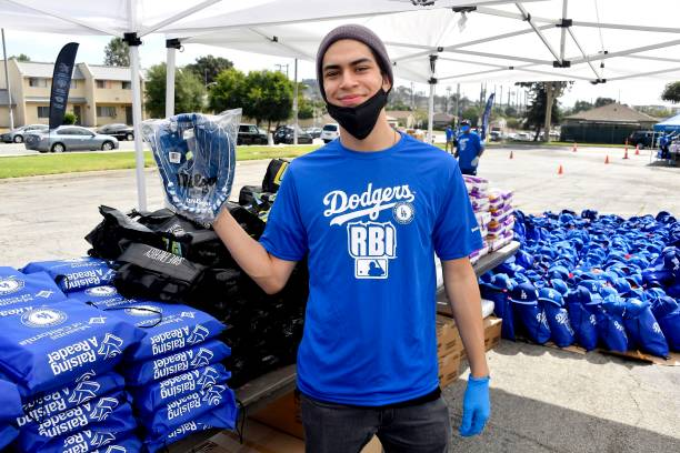 CA: Los Angeles Dodgers Foundation Hosts 5th Dodger Day Drive-Thru Presented By Arco