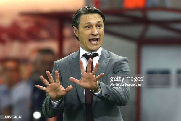 Niko Kovac head coach of FC Bayern München reacts during the UEFA Champions League group B match between Olympiacos FC and Bayern Muenchen at...