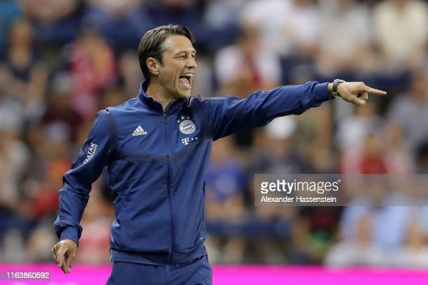 Niko Kovac head coach of FC Bayern Muenchen reacts during the 2019 International Champions Cup match between FC Bayern and AC Milan at Children`s...