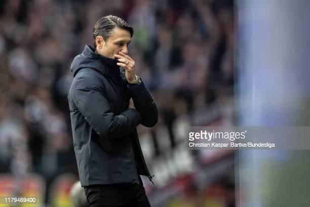 Niko Kovac Head Coach of FC Bayern Muenchen reacts during the Bundesliga match between Eintracht Frankfurt and FC Bayern München at CommerzbankArena...