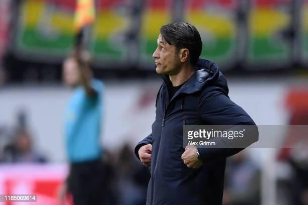 Niko Kovac Head Coach of FC Bayern Munich reacts during the Bundesliga match between Eintracht Frankfurt and FC Bayern Muenchen at CommerzbankArena...