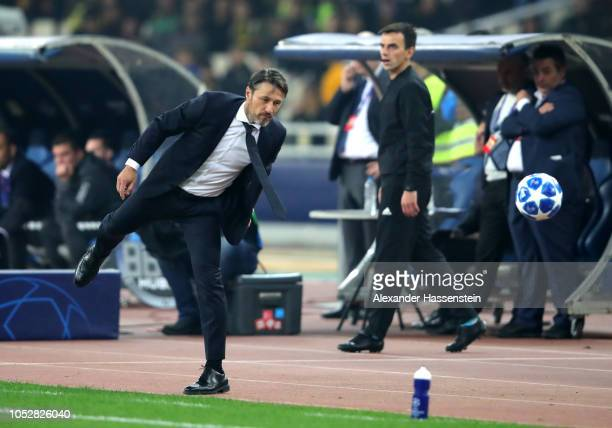 Niko Kovac Manager of Bayern Munich during the Group E match of the UEFA Champions League between AEK Athens and FC Bayern Muenchen at Athens Olympic...