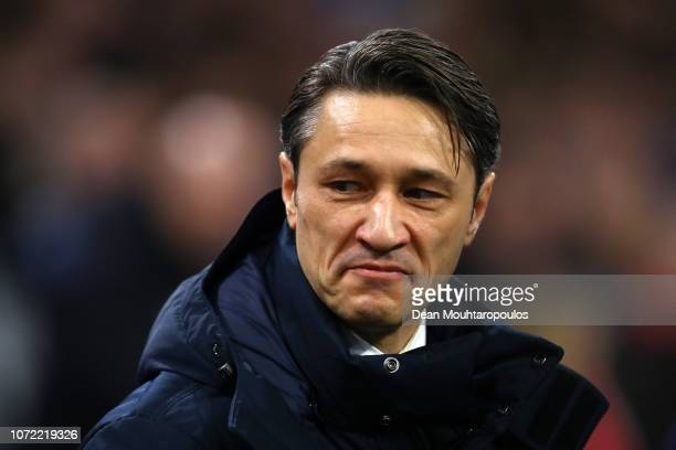 Niko Kovac Manager of Bayern Munich looks on during the UEFA Champions League Group E match between Ajax and FC Bayern Muenchen at Johan Cruyff Arena...