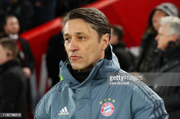 Niko Kovac Manager of Bayern Munich looks on prior to the UEFA Champions League Round of 16 First Leg match between Liverpool and FC Bayern Muenchen...