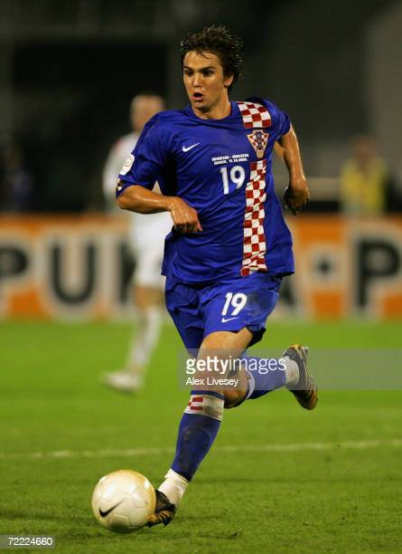 Niko Kranjcar of Croatia in action during the Euro2008 Qualifier match between Croatia and England at the Maksimir Stadium on October 11 2006 in...