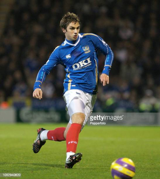 Niko Kranjcar of Portsmouth in action during the Barclays Premier League match between Portsmouth and Arsenal at Fratton Park in Portsmouth England...