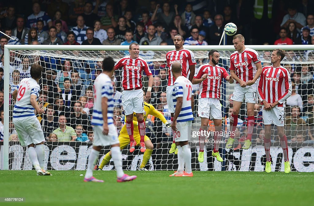 Niko Kranjcar of QPR scores from a free kick during the Barclays Premier League match between Queens Park Rangers and Stoke City at Loftus Road on September 20, 2014 in London, England.