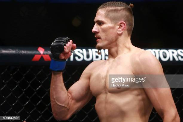 Niko Price of United States celebrates his victory against Alan Jouban of United States during the UFC Fight Night Mexico City at Arena Ciudad de...