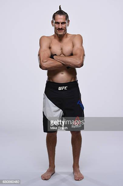 Niko Price poses for a portrait during a UFC photo session inside the MGM Grand Conference Center on December 26 2016 in Las Vegas Nevada