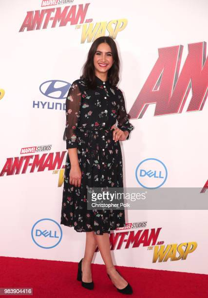 Nikohl Boosheri attends the premiere of Disney And Marvel's AntMan And The Wasp on June 25 2018 in Los Angeles California