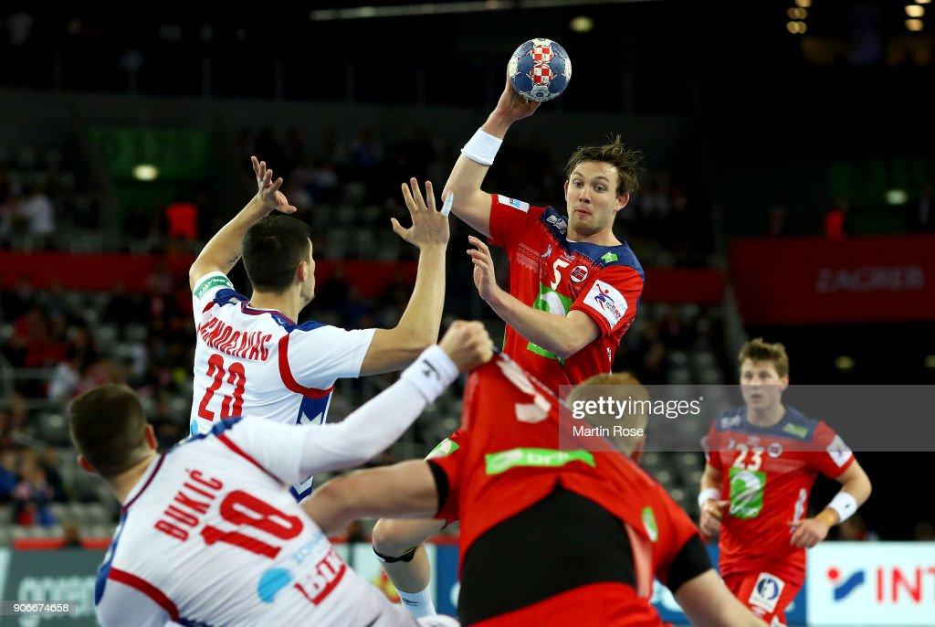 Serbia v Norway - EHF Euro Croatia 2018
