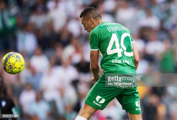 Nikola Djurdjic of Hammarby scores to 22 during the Allsvenskan match between Hammarby IF and Malmo FF at Tele2 Arena on May 16 2018 in Stockholm...