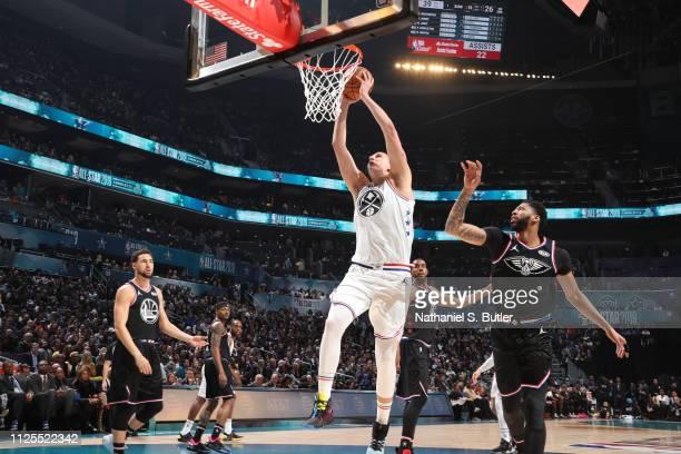 Nikola Jokic of Team Giannis dunks the ball against Team LeBron during the 2019 NBA AllStar Game on February 17 2019 at the Spectrum Center in...