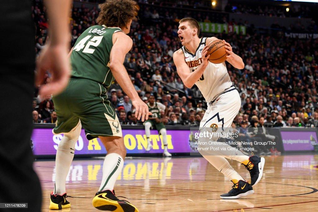 DENVER NUGGETS VS MILWAUKEE BUCKS, NBA REGULAR SEASON : News Photo