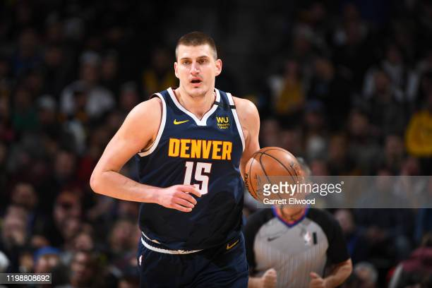 Nikola Jokic of the Denver Nuggets handles the ball against the Portland Trail Blazers on February 4, 2020 at the Pepsi Center in Denver, Colorado....