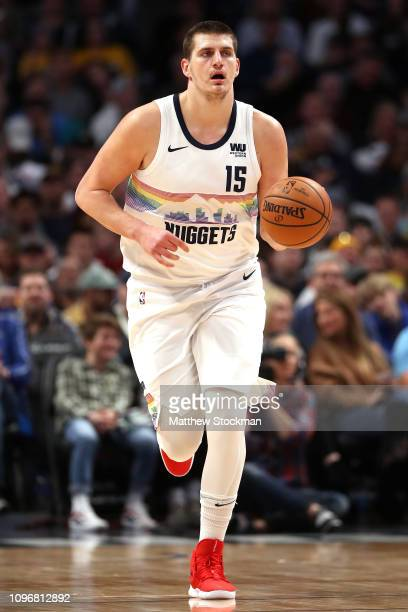 Nikola Jokic of the Denver Nuggets plays the Cleveland Cavaliers at the Pepsi Center on January 19 2019 in Denver Colorado NOTE TO USER User...