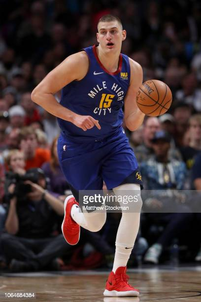Nikola Jokic of the Denver Nuggets plays the Orlando Magic at the Pepsi Center on November 23 2018 in Denver Colorado NOTE TO USER User expressly...