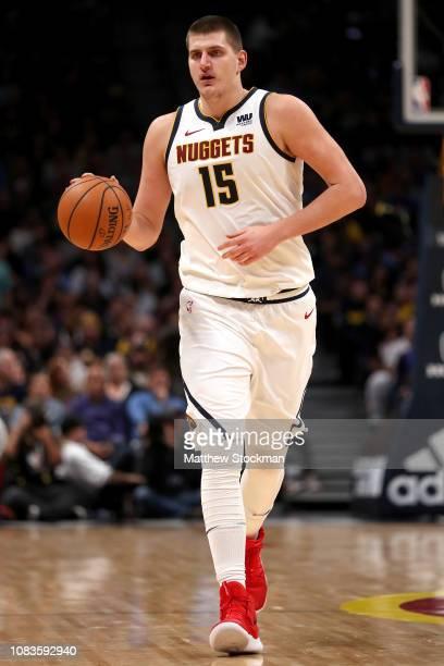 Nikola Jokic of the Denver Nuggets plays the Toronto Raptors at the Pepsi Center on December 16 2018 in Denver Colorado