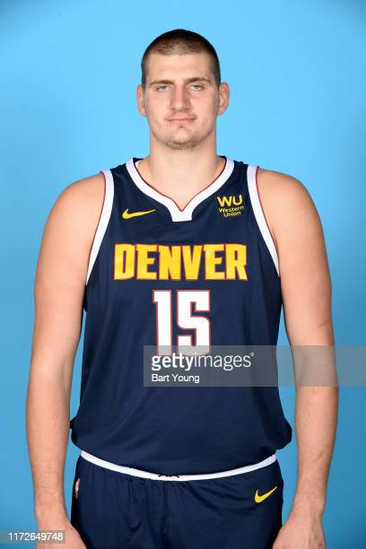 Nikola Jokic of the Denver Nuggets poses for a head shot during media day on September 30, 2019 at the Pepsi Center in Denver, Colorado. NOTE TO...