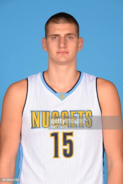 NIkola Jokic of the Denver Nuggets poses for a head shot during the 20162017 Media Day on September 26 2016 at the Pepsi Center in Denver Colorado...