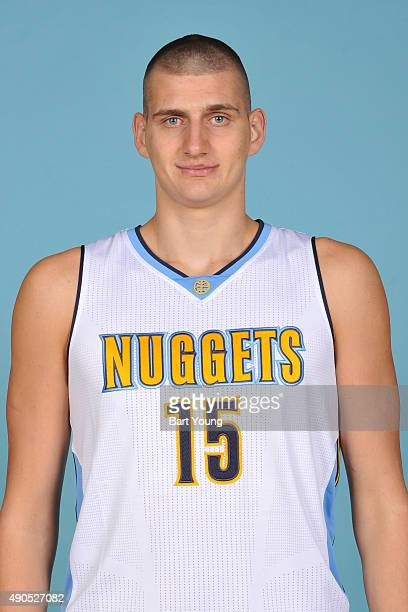 Nikola Jokic of the Denver Nuggets poses for a head shot on September 28 2015 at the Pepsi Center in Denver Colorado NOTE TO USER User expressly...