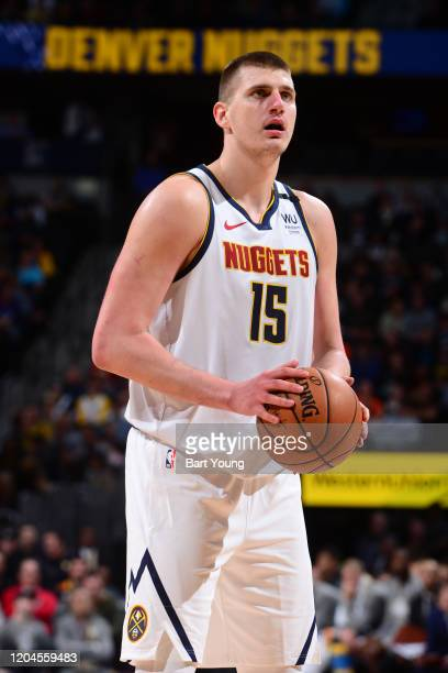 Nikola Jokic of the Denver Nuggets shoots the ball against the Toronto Raptors on March 1, 2020 at the Pepsi Center in Denver, Colorado. NOTE TO...