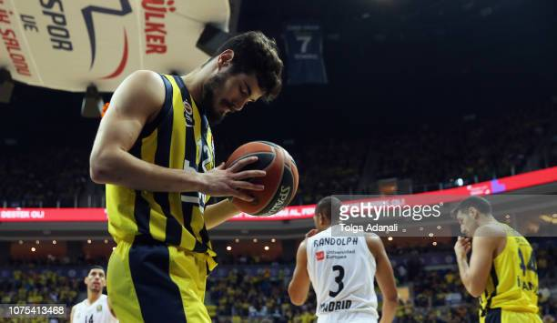 Nikola Kalinic #12 of Fenerbahce BEKO Istanbul in action during the 2018/2019 Turkish Airlines EuroLeague Regular Season Round 15 game between...