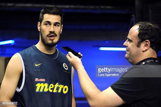 Nikola Kalinic #33 of Fenerbahce Istanbul during the Laboral Kutxa Vitoria Gasteiz Practice at Turkish Airlines Euroleague Basketball Final Four...