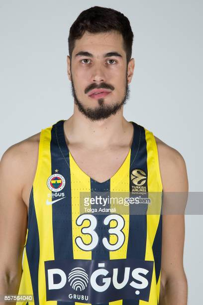 Nikola Kalinic #33 poses during Fenerbahce Dogus Istanbul 2017/2018 Turkish Airlines EuroLeague Media Day at Ulker Sports Arena on October 2 2017 in...
