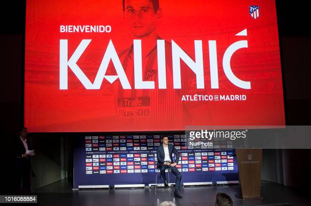 Nikola Kalinic during his presentation as new Atletico de Madrid players at Wanda Metropolitano in Madrid, Spain. August 13, 2018.