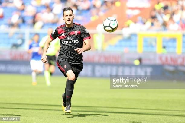 Nikola Kalinic of AC Milan in action during the Serie A football match between Uc Sampdoria and Ac Milan Uc Sampdoria wins 20 over Ac Milan
