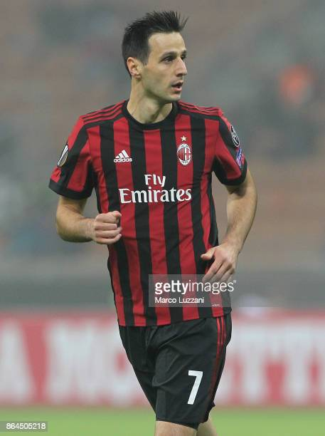 Nikola Kalinic of AC Milan looks on during the UEFA Europa League group D match between AC Milan and AEK Athens at Stadio Giuseppe Meazza on October...
