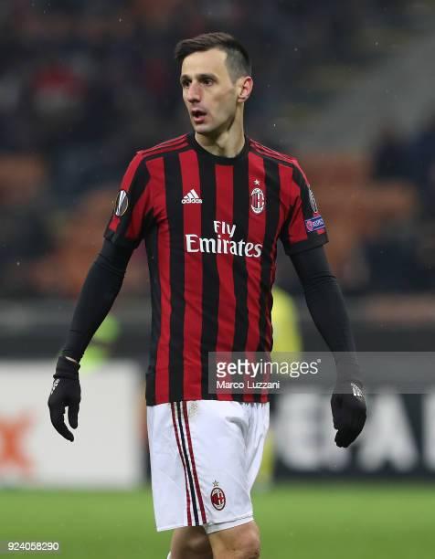 Nikola Kalinic of AC Milan looks on during UEFA Europa League Round of 32 match between AC Milan and Ludogorets Razgrad at the San Siro on February...