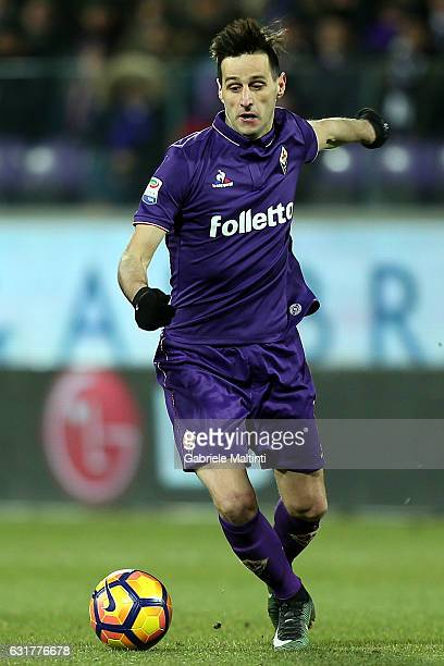 Nikola Kalinic of ACF Fiorentina in action during the Serie A match between ACF Fiorentina and Juventus FC at Stadio Artemio Franchi on January 15...