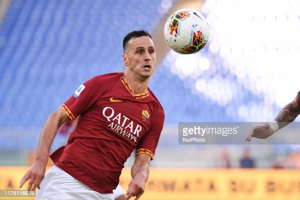 Nikola Kalinic of AS Roma during the Italian Serie A 2019/2020 match between AS Roma and Cagliari Calcio at Stadio Olimpico on october 6, 2019 in...