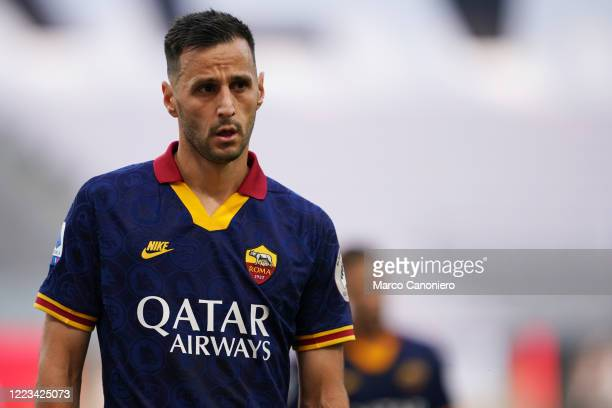 Nikola Kalinic of As Roma during the Serie A match between Ac Milan and As Roma. Ac Milan wins 2-0 over As Roma.