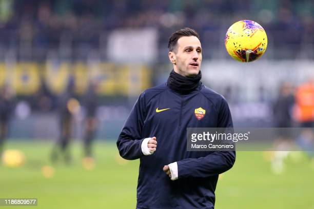 Nikola Kalinic of As Roma during the Serie A match between FC Internazionale and As Roma. The match end in a tie 0-0.