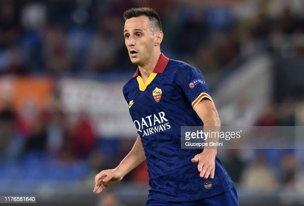 Nikola Kalinic of AS Roma in action during the UEFA Europa League group J match between AS Roma and Istanbul Basaksehir FK at Stadio Olimpico on...