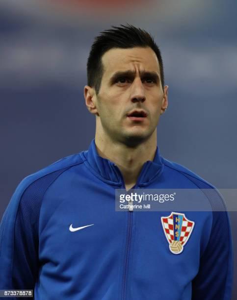 Nikola Kalinic of Croatia during the FIFA 2018 World Cup Qualifier PlayOff Second Leg between Greece and Croatia at Karaiskakis Stadium on November...