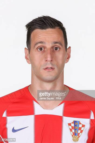 Nikola Kalinic of Croatia poses during the official FIFA World Cup 2018 portrait session at on June 12 2018 in Saint Petersburg Russia
