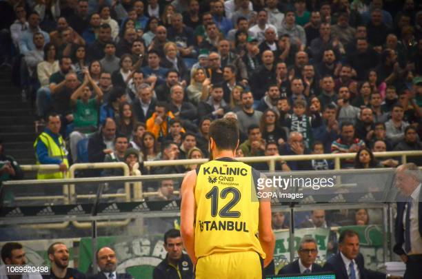 Nikola Kalinic of Fenerbahce seen reacting during the Euroleague basketball game between Panathinaikos BC v Fenerbachce at Olympic Sports Center...