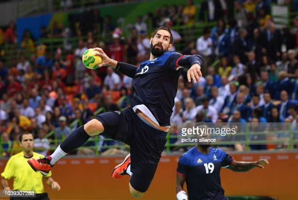 Nikola Karabatic of France in action during the Men's Gold Medal Match match between Denmark and France of the Handball events during the Rio 2016...
