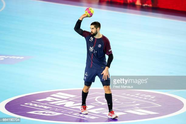 Nikola Karabatic of Paris Saint Germain during the League Cup semi final match between Paris Saint Germain PSG and Dunkerque on March 17 2018 in Metz...