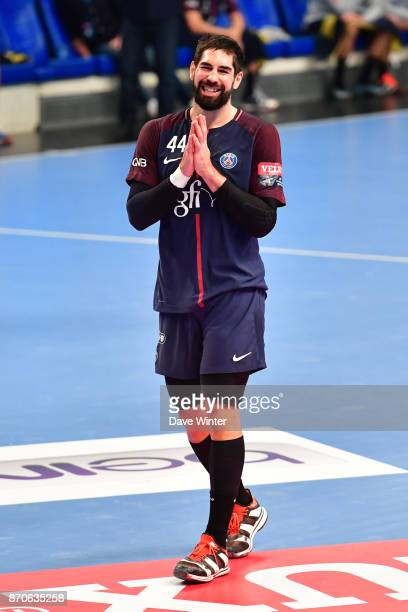 Nikola Karabatic of PSG during the Champions League match between Paris Saint Germain and Kielce on November 5 2017 in Paris France