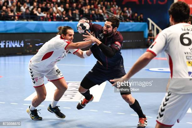 Nikola Karabatic of PSG during the Champions League match between Paris Saint Germain and Veszprem on November 12 2017 in Paris France