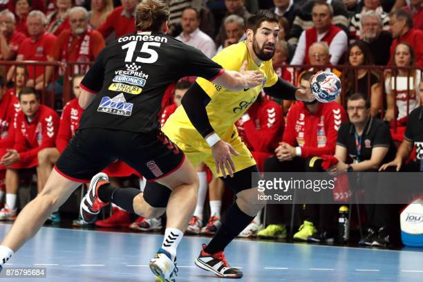 Nikola Karabatic of PSG during the Champions League match between Veszprem and Paris Saint Germain on November 18 2017 in Veszprem Hungary