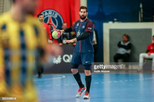 Nikola Karabatic of Psg during the French Cup match between Paris Saint Germain and Tremblay en France at Stade Pierre de Coubertin on March 11 2018...
