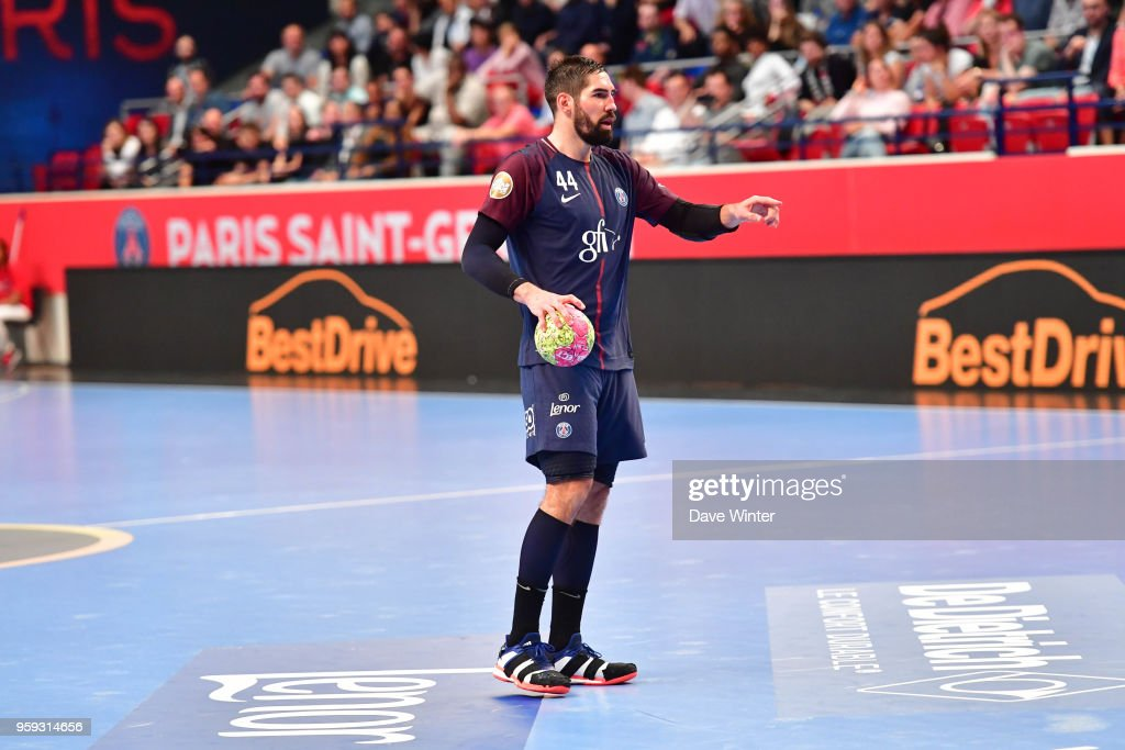 Nikola Karabatic of PSG during the Lidl StarLigue match between Paris Saint Germain and Aix at Salle Pierre Coubertin on May 16, 2018 in Paris, France.