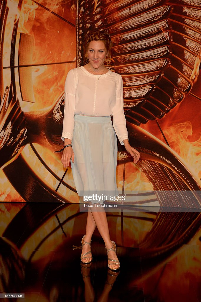 Nikola Kastner attends the German premiere of the film 'The Hunger Games - Catching Fire' (Tribute von Panem - Catching Fire) at Sony Centre on November 12, 2013 in Berlin, Germany.