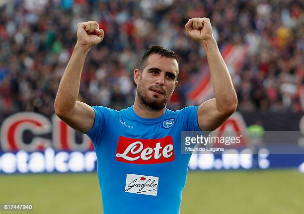 Nikola Maksimovic of Napoli celebrates after the Serie A match between FC Crotone and SSC Napoli at Stadio Comunale Ezio Scida on October 23 2016 in...